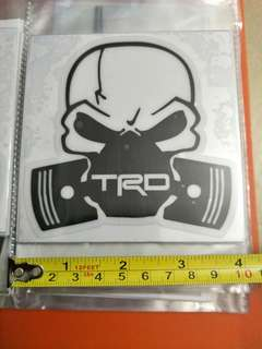 Toyota TRD skull decals.