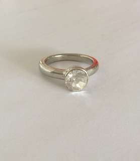 Clear white crystal ring