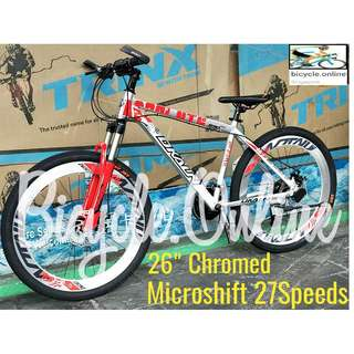 "Chromed 26"" Albumin MTB / Dkaln Mountain Bike ☆ Corrosion Resistance!  ☆ Microshift 27Speeds *Taiwan ☆ Brand New Bicycles"