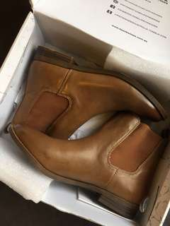AS NEW Tan Ankle Boots