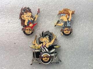Hard Rock Cafe Pins - OSLO HOT & RARE 2014 TROLL KIDS BAND SERIES # 1-3 PIN SET!