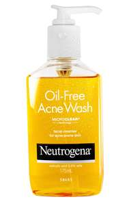 Neutrogena oil acne wash