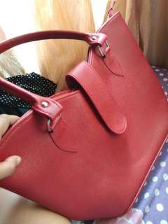 Leather Red Hand Bag