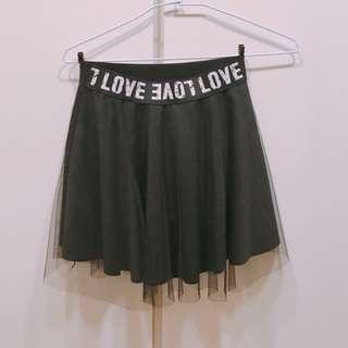 🚚 ♡暗黑龐克黑色紗裙♡