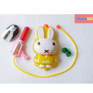 Miffy Character Backpack Water Gun