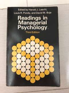 $1.90 Readings in managerial psychology