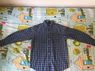Gap Blue-Checkered shirt