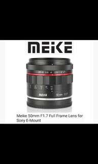 Meike 50mm F1.7 Full Frame Lens for Sony E-Mount