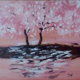 18x24 Canvas Cherry Blossom Painting