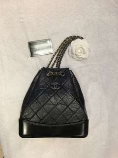 BLACK CHANEL GABRIELLE SMALL BACKPACK 2017