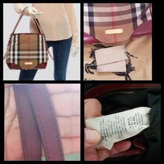 Authentic Burberry canterbury check bag