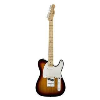 Fender Standard Telecaster Guitar, Maple Neck, Brown Sunburst, w/o Bag