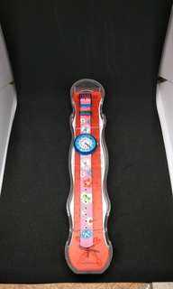 Brand New Flikflak by Swatch Camping Badge Pink