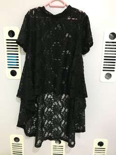 Princess Cut Lace Blouse