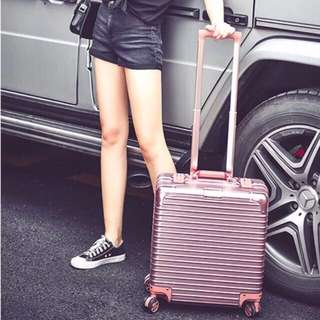 Rose Gold Cabin Size Luggage