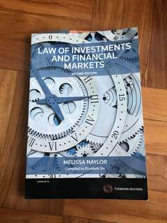 Law Of Investments And Financial Markets TB
