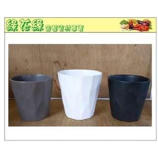 🚚 {綠花緣} 素雅陶瓷盆 - 小 (土灰、白、黑三色)