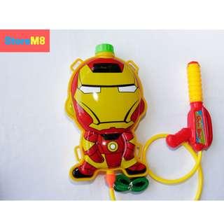 Iron Man Character Backpack Water Gun