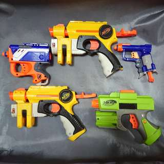 Authentic Nerf Guns 5 pcs Assorted Bundle