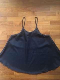 Black Halterneck Flutter Top
