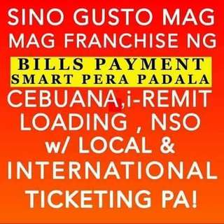 Airline Ticketing, Western Union, SmartMoney, Cebuana, Bayad Center