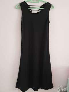 •INSTOCK• Black Ribbon tie back Dress