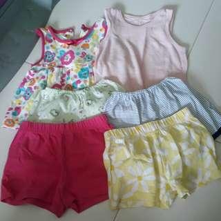 Preloved Baby Girl's Clothes Bundle Set