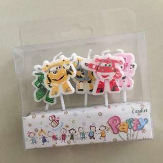 Super wings Happy Birthday Candles