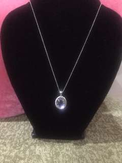 Amethyst necklace with diamonds HK setting