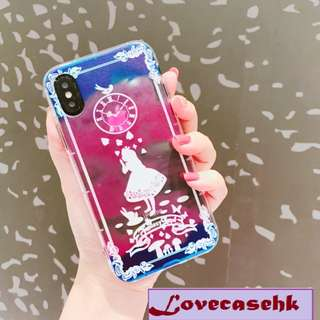 手機殼IPhone6/7/8/plus/X : 愛麗絲公主全包邊軟殼