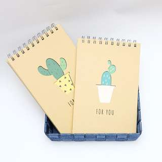 Cactus For You Spiral Grid Notepad A5