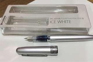 PLATINUM Plaisir 03 fountain pen - Fine tip (ice white)