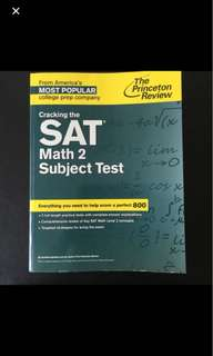SAT subject test prep book
