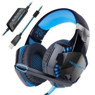 799. Gaming Headset,TeckNet 7.1