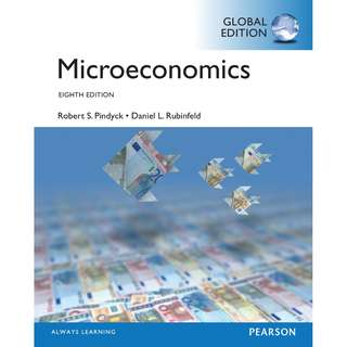 Microeconomics Global 8th Eighth Edition by Robert S. Pindyck, Daniel L. Rubinfeld - Pearson