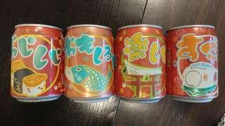 可口可樂罐一套4個 (收藏品)