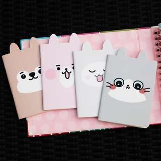 Cute Animals Plain Pocket Notes Set