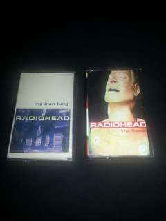Tape Set Radiohead Bends n My iron lung. Kaset. Cassette