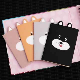 Frisky Shiba Inu Plain Pocket Notes Set
