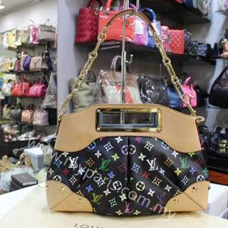 Louis Vuitton Black Multicolored Judy MM