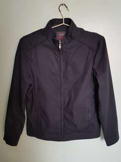 Black zipup casual jacket