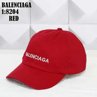 TOPI MEREK BALENCIAGA   8204#8  KUALITAS: SUPER  BAHAN : KANVAS   2 WARNA PILIHAN  - RED - WHITE  DIAMETER 18CM  - BAGIAN DALAM TOPI ADA MERKNYA - BAGIAN BELAKANG TOPI TERDAPAT RING BESI(PENGAIT)  BERAT. 0,1KG  H 85rb