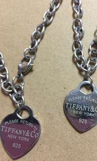 Tiffany and Co. necklace and bracelet