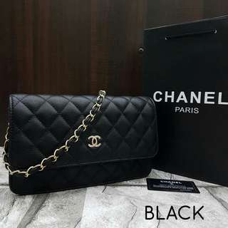 Chanel WOC Black Bag with Gold Hardware