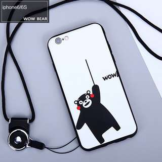 Panda Bear Soft Case for iPhone 5, 5s, 5se, 6, 6+, 6s, 6s+, 7, 7+, 8, 8+