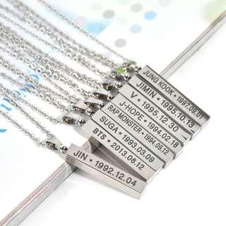 BTS bar necklace