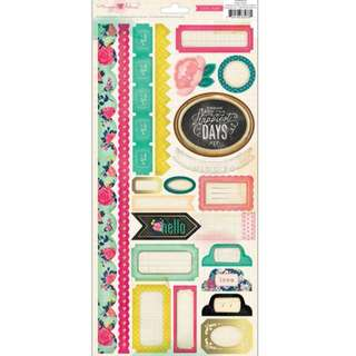 2 sets of Cardstock Stickers (Crate Paper and Pink Paislee)
