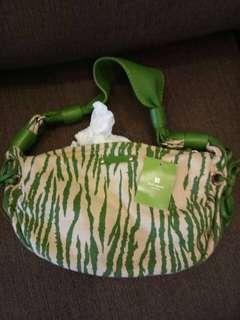 Kate Spde Zebra Green Hand Bag