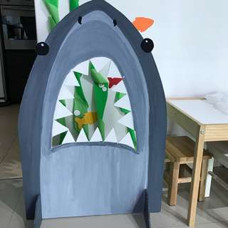 Shark photo booth/games, paper lantern, pin games