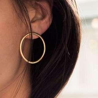 Big Round Circle Hoop Earrings